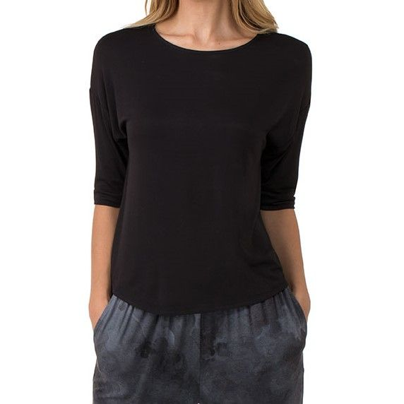 DKNY 3/4  Sleeve Top - Black
