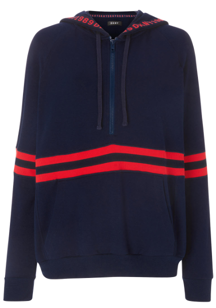 DKNY Downtown Layers Hoodie - Navy