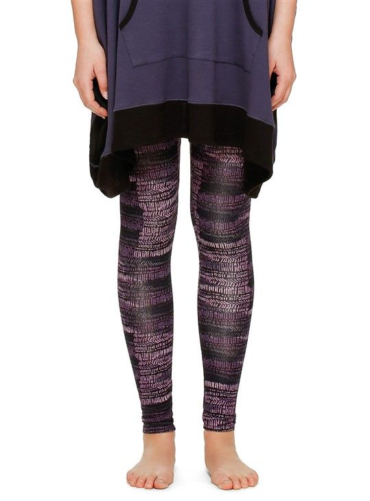 DKNY Resort Lounging Leggings - Black Abstract