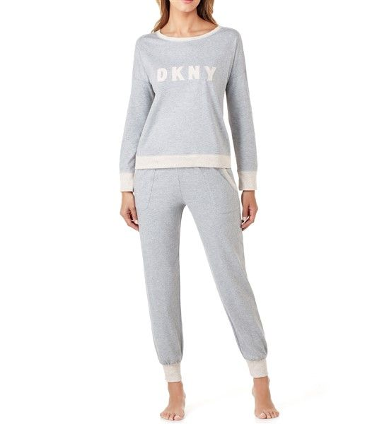 DKNY Top & Jogger Pyjama Set - Grey Heather