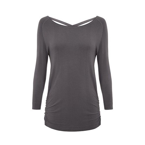 Jilla Free As Can Be Bamboo Top - Grey