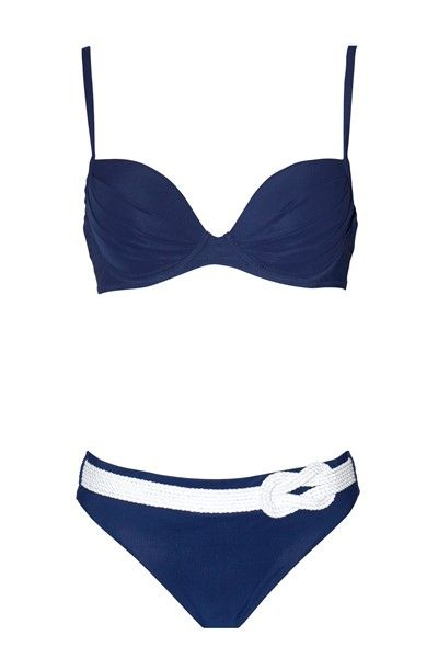 Maryan Mehlhorn Cruise Underwired Bikini Set - Navy