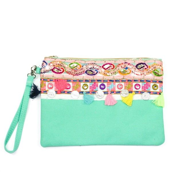 Melody Clutch Bag - Green