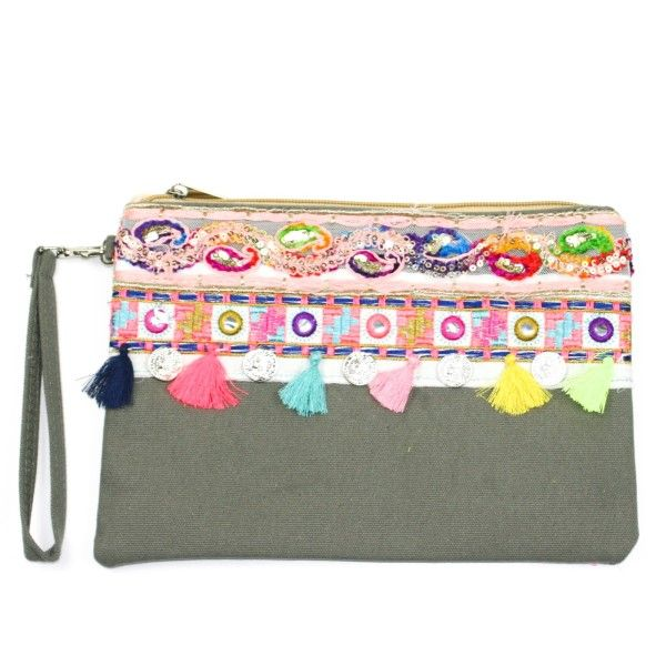 Melody Clutch Bag - Grey