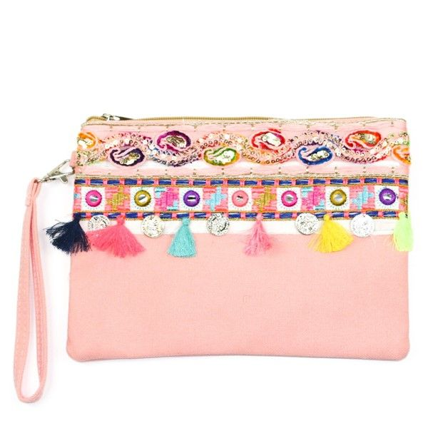 Melody Clutch Bag - Pink
