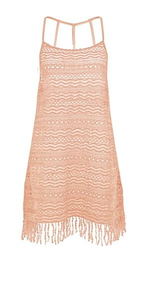 Watercult Crochet Dress - Apricot Blush